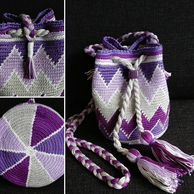 MINI Mochila Purple patroon