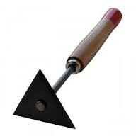 Driehoek Verfschraper extrahard 8 cm