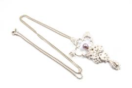 Juwelen Praten - Collier met koninklijke hanger en parel - 11071