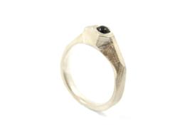 Hans van der Leen - Ring zilver met onyx - 11222
