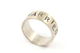 Galerie Puur - NOT MARRIED ring zilver - 9748