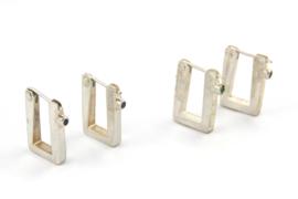 Hans van der Leen - Zilveren oorstekers in diverse kleuren - 10709.HLO049