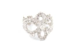 Femke Toele - Gehaakt zilveren ring met maansteen - 11422