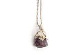 Maja Lava - Zilveren collier met amethist hanger - 10939
