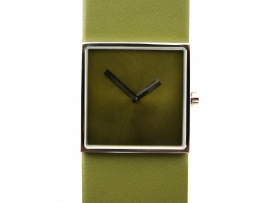 Horloge vierkant groen/groen DST-DC-014