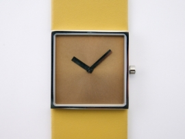 Horloge vierkant geel/geel DST-DC-007