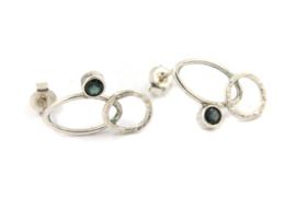 Myrthe Cools - Zilveren oorstekers met tourmalijn - MC2016-1