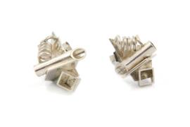Gomes Esser - Speelse oorstekers 'gekristalliseerd' zilver - 9639