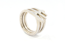 Galerie Puur - Cross-over ring zilver - 9756