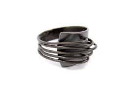 AW Edelsmeden - Zirkonium ring zwart - AWR-8