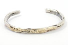 Hans van der Leen - Armband zilver met strooi goud - 10691.HLA010c