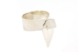 Galerie Puur - Abstracte ring zilver - 11043