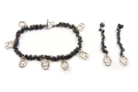 Dorien de Jonge - Deels gezwart zilveren armband  - 2A03