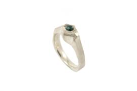 Hans van der Leen - Ring zilver met toermalijn - 11222