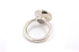 Anna - Ring zilver met donker paars emaille - 11136