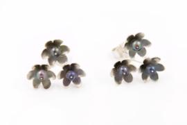 Erwin Borggreve - Trippel bloem oorknopjes - 10325