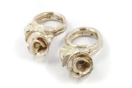 Philis Mars - Zilveren ring met roos - RBS06