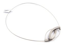 Susanne Schaars - stalen collier aluminium met zirconia -