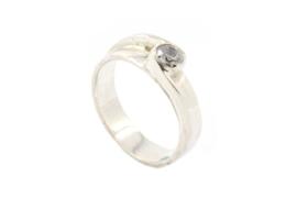 Galerie Puur - Ring zilver met diamant - BR4B