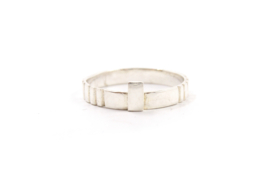 Nena Origins - Ring zilver met groeven - 11291
