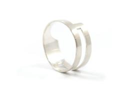 Nena Origins - Ring zilver asymmetrisch - 11287