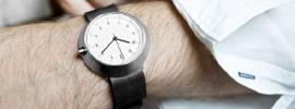 Fuji Horloge - wit met zwarte band