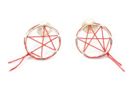 Klenicki Jewelry - Oorbellen dromenvanger rood - 11156