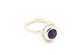 Myjung Kim - Zilveren ring met paarse amethist- 10132