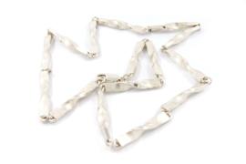 Galerie Puur - Schakel collier 'getwist' zilver - 11036