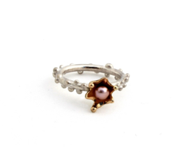 Corinne van Kamp - Regendruppel  ring met goud - 11674