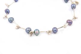 Galerie Puur - Armbandje met paarse zoetwater parels