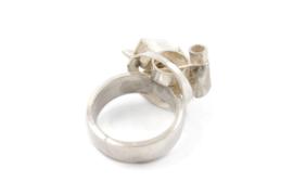 Gomes Esser - Speelse ring 'gekristalliseerd' zilver - 9637