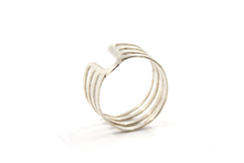 Nena Origins - Ring zilver met U vorm - 11285