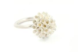 Janneke de Bruin - Ring zilveren knop - 11384