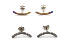 AW Edelsmeden - Titanium oorknopjes - AWO -12