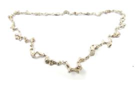 Galerie Puur - Collier 'vloeibaar' zilver - 10739