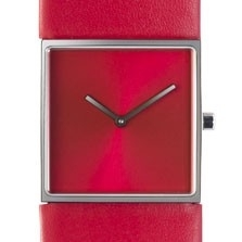 Horloge vierkant rood/rood DST-DC-001