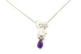Juwelen Praten - Sierlijk collier met amethist hanger - 11069