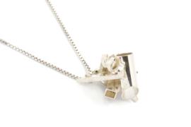 Gomes Esser - Collier met zilver 'gekristalliseerde' hanger - 9638