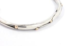 Hans van der Leen - Armband zilver met gouden stippen - 10690HLA011