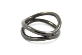 AW Edelsmeden - Ring zirkonium zwart - AWR-5