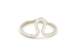 Nena Origins - Ring zilver 'curved' - 11290