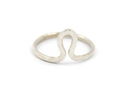 Nena Origins - Ring zilver 'curved' - 11290