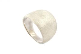 Galerie Puur - Ring zilver met ruw oppervlak - 11047