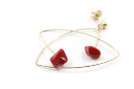 Maria van der Mel - verguld rhemanium oorstekers met howliet - 10756