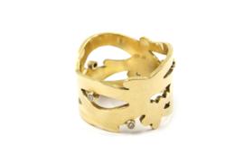 Myjung Kim - 18k Gouden ring met Wesselton diamanten - 9131