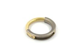 Brech Sieraden - Ring zilver en 18k goud - 11087