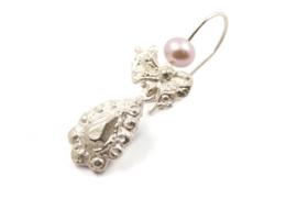 Juwelen Praten - Asymmetrische zilveren oorhangers - 1073
