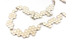 Inge Goedbloed - Zilveren honingraat collier - 11093