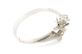 Gomes Esser - Armband 'gekristalliseerd' zilver - 9636